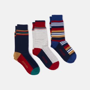 Joules Men's Multi Stripe 3 Pack Socks