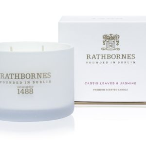 Rathbornes Cassis Leaves And Jasmine – Classic Candle