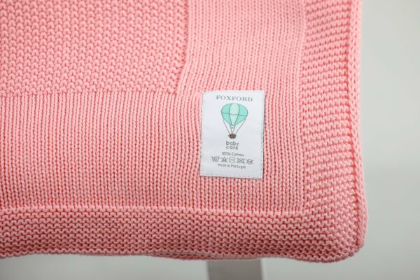 Foxford Cotton Baby Blanket – Orchid Pink