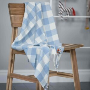 BABY THROW – BLUE CHECK