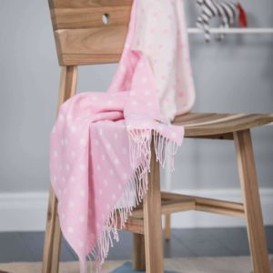 Foxford Pink Spot Baby Blanket