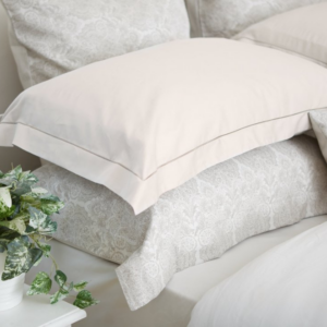 Mother of Pearl with Satin Stitch Oxford Pillowcas
