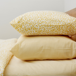Ticking Stripe Yellow Housewife Pillowcase – Pair