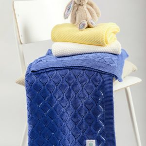 Foxford Cotton Baby Blanket – Royal Blue