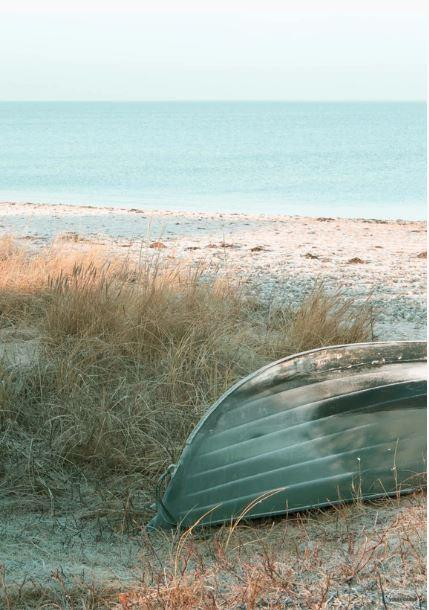 Boat on the Shore Poster