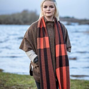 Charlotte and Mayo Double Twill Check Scarf