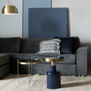 Glam Side Table – Blue