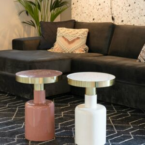 Glam Side Table – Pink