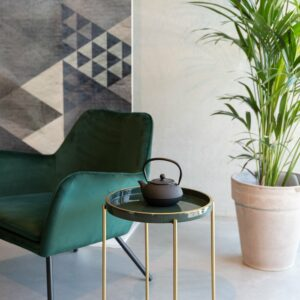 Green and Gold Side Table