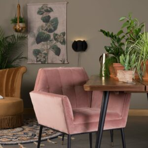 Kate Armchair – Pink Clay