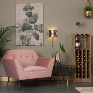 Kate Lounge Chair – Pink Clay