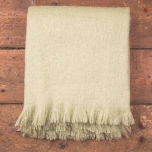 Lime Solid Mohair Throw