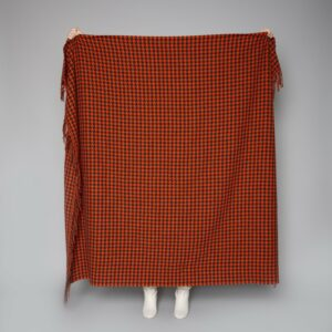 Paprika & Mayo Brown Houndstooth Throw