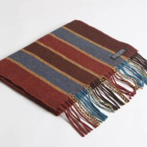 Red & Mayo Blue Lambswool Scarf