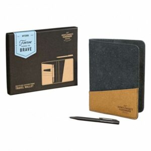 Travel Wallet and Pen Recycled Leather