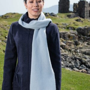 Willow Blue & Cerise Lambswool Scarf