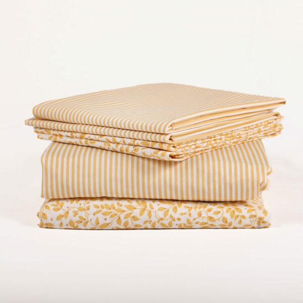 Yellow Ticking Stripe Fitted Sheet